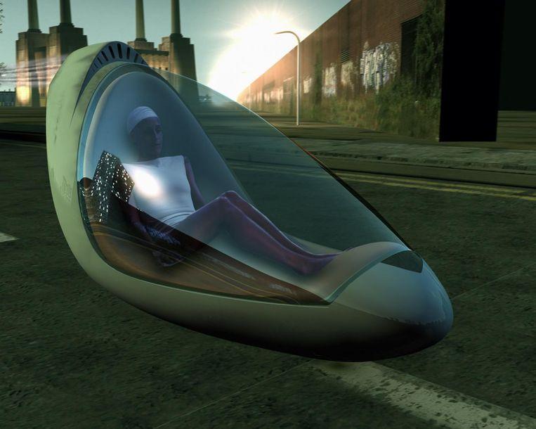Design: Hussein Chalayans vliegende auto's. Beeld