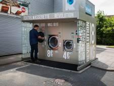 Een wasje draaien bij de benzinepomp in Wageningen
