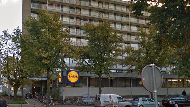 Het World LXRY Hotel komt in de plint van het flatgebouw. Beeld Google Streetview