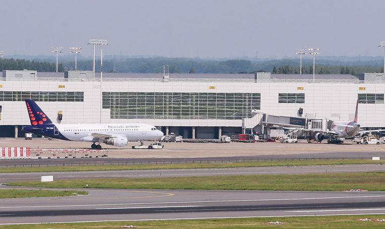 Een vliegtuig van Brussels Airlines, startensklaar op de luchthaven van Zaventem.