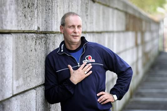 Jan Poortvliet in 2008 als trainer van Helmond Sport.