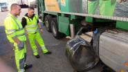 Brandstoftank kapot na uitwijkmanoeuvre voor trucker