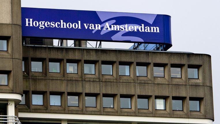 De Amsterdamse Studenten Vereniging Leeuwenburg wordt gevormd door HvA-studenten. Beeld ANP