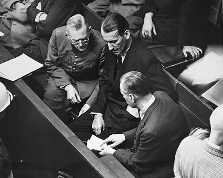 Kaltenbrunner tijdens zijn proces.