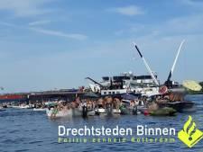 Politie maakt einde aan massaal 'fuikfeest' op Nieuwe Merwede