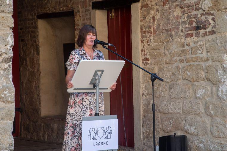 Directrice Véronique Lambert van het Kasteel van Laarne.