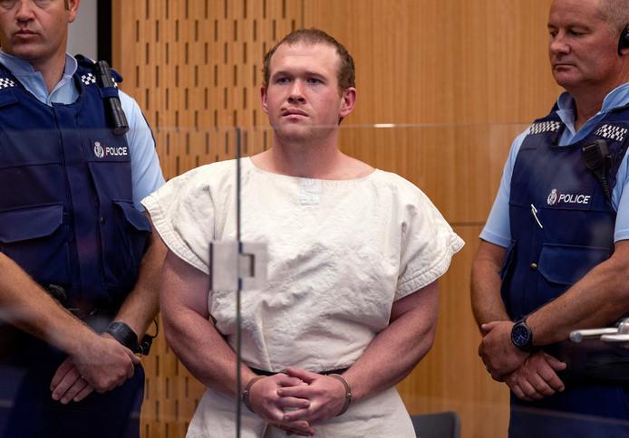 Brenton Tarrant, de man die in Nieuw-Zeeland 51 mensen doodschoot.