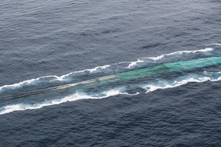 Krillvissersboot in de buurt van Trinity Island.