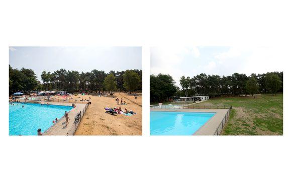 Tijdens en na de droogte in het zwembad van Zolder.