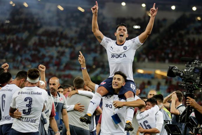 Vreugde bij de spelers van Independiente.