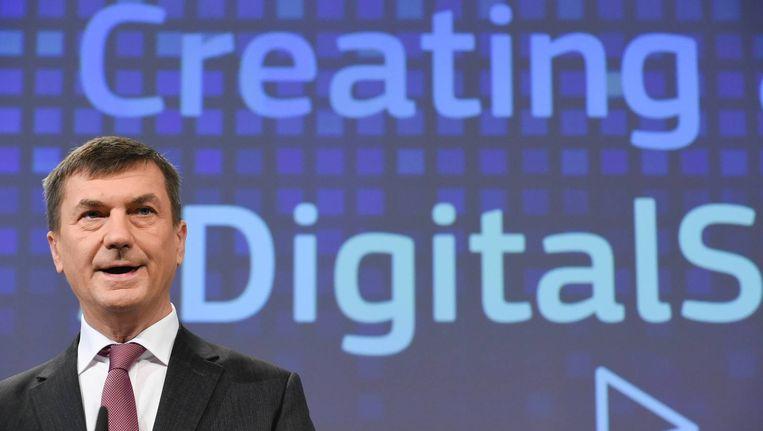 Andrus Ansip, Europees commissaris Digitale Markt. Beeld anp