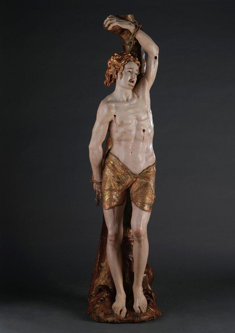 Heilige Sebastiaan, midden 16e eeuw. Beeld