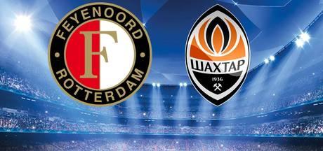 LIVE: Feyenoord toch met Jørgensen in cruciaal duel met Sjachtar