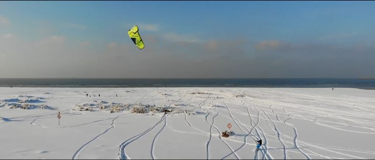 Snowkiten Zeebrugge