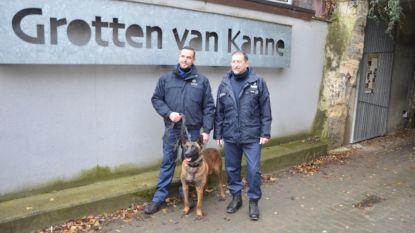 Politie traint met honden in mergelgroeven in Kanne