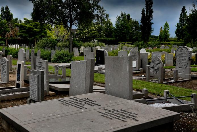 De begraafplaats in Numansdorp