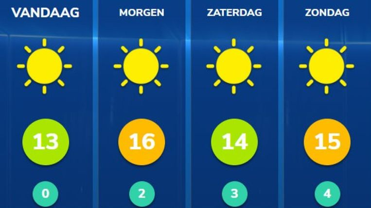Zon, zon en nog eens zon.
