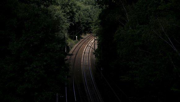 Een stuk spoorlijn in de buurt van waar de nazitrein zich zou bevinden.