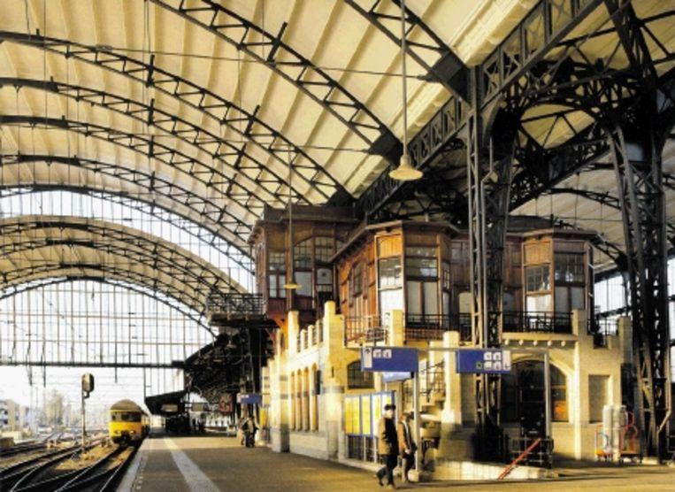 Station Haarlem uit 1906. ( Architect D.A.N. Margadant (1849-1915)) Beeld