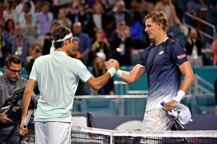 Federer had geen kind aan Anderson.