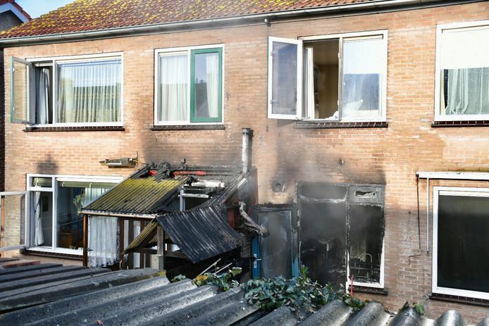 Keukenbrand in woning aan de Thorbeckestraat in Culemborg. Een vrouw is gewond geraakt.