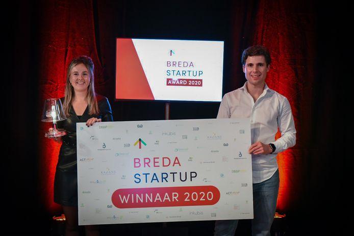 De oprichters van TUX Mobility ontvangen de Breda Startup Award.