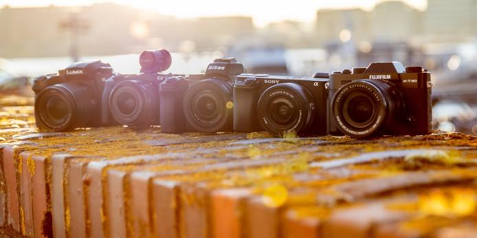 De geteste camera's