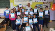 Leerlingen slagen voor voetgangersexamen