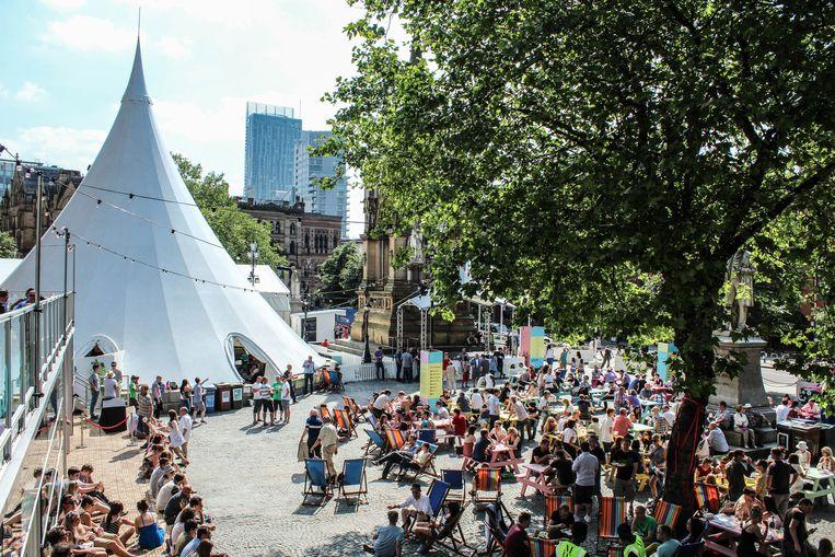 Manchester International Festival op Albert Square Beeld