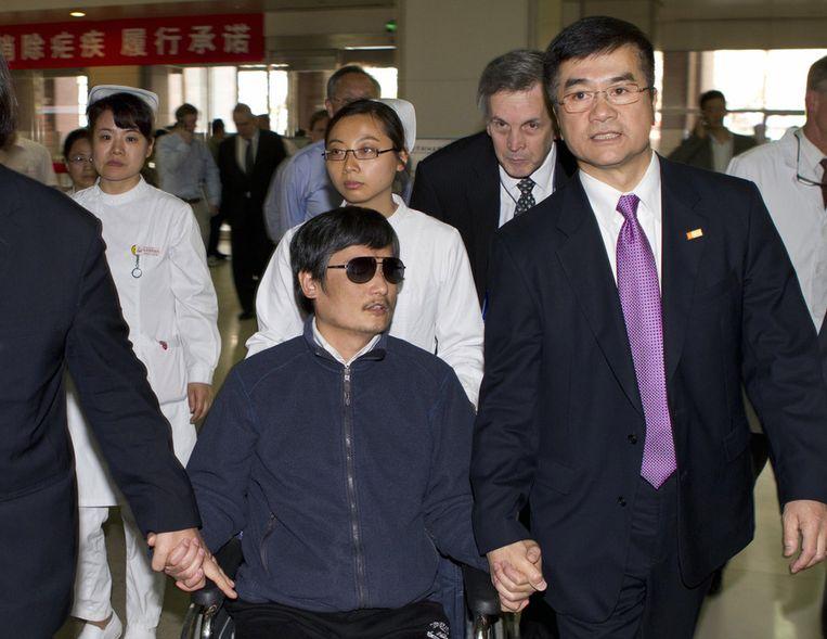 De blinde Chinese activist Chen Guancheng. Beeld ap