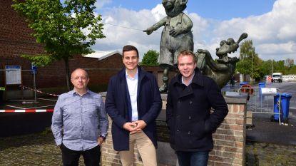 Dries van Langenhove even in Tollembeek om Daniël Fonteyne te steunen met campagne