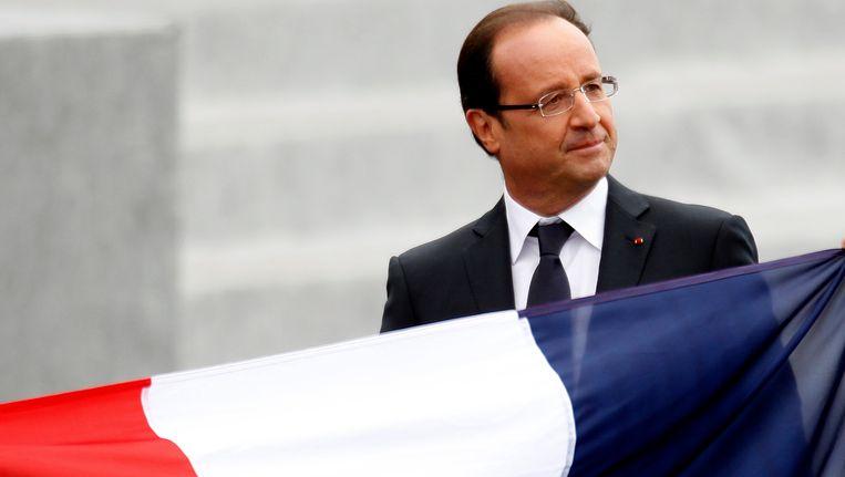 Francois Hollande ziet in eigen land de steun voor de EU steeds verder teruglopen Beeld Reuters