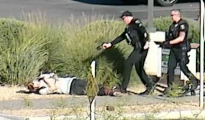 James Hurst tasé par un policier