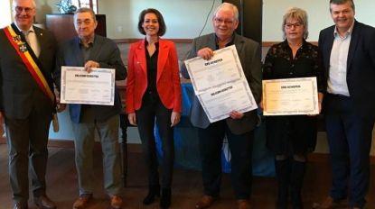 Minister Bart Somers getuige van huldiging ereschepenen in Mesen