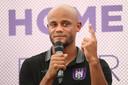 Vincent Kompany bij zijn presentatie als speler-coach van Anderlecht.
