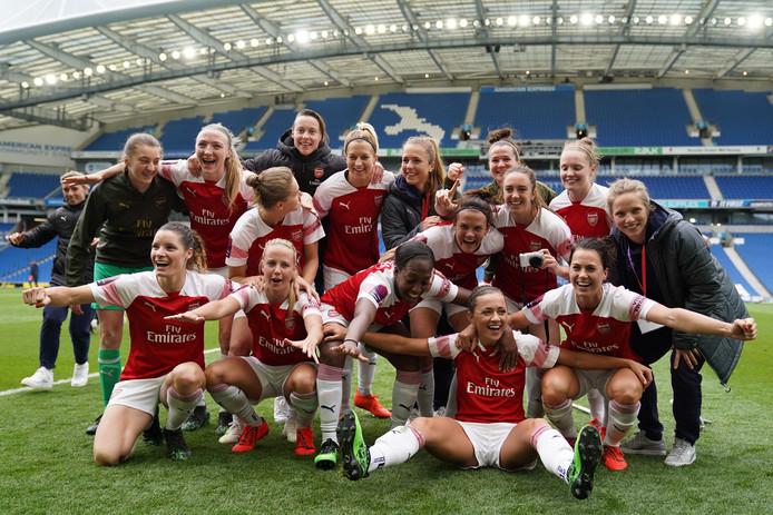 Arsenal werd vorige maand kampioen in de Women's Super League.