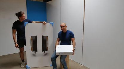 Sander en Sebastiaan lanceren 'onzichtbare' luidsprekers die muziek uit de muur laten komen