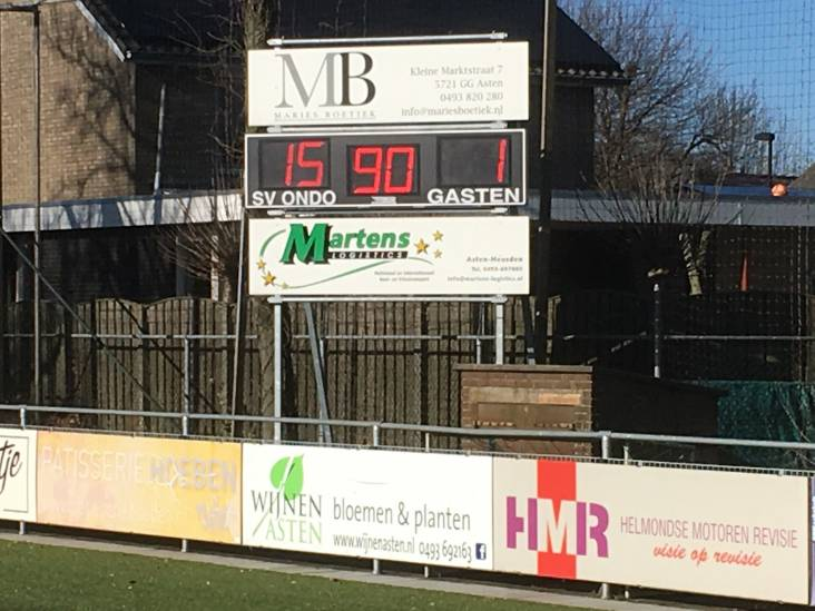 ONDO wint met 15-1 (!) van arm Sterksel: 'Alles vloog erin'