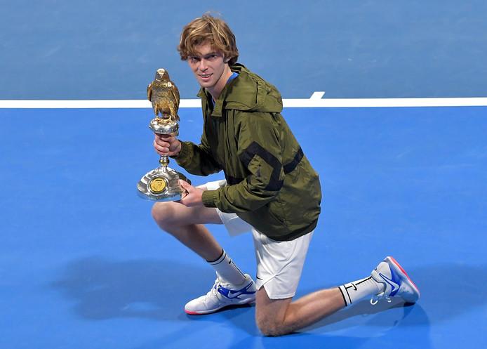 Possible adversaire de David Goffin au troisième tour de l'Open d'Australie, Andrey Rublev reste sur une série de 12 victoires consécutives et a déjà empoché deux titres en 2020.