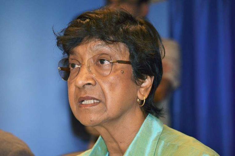 Hoge Commissaris voor de Mensenrechten van de VN, Navi Pillay. Beeld afp