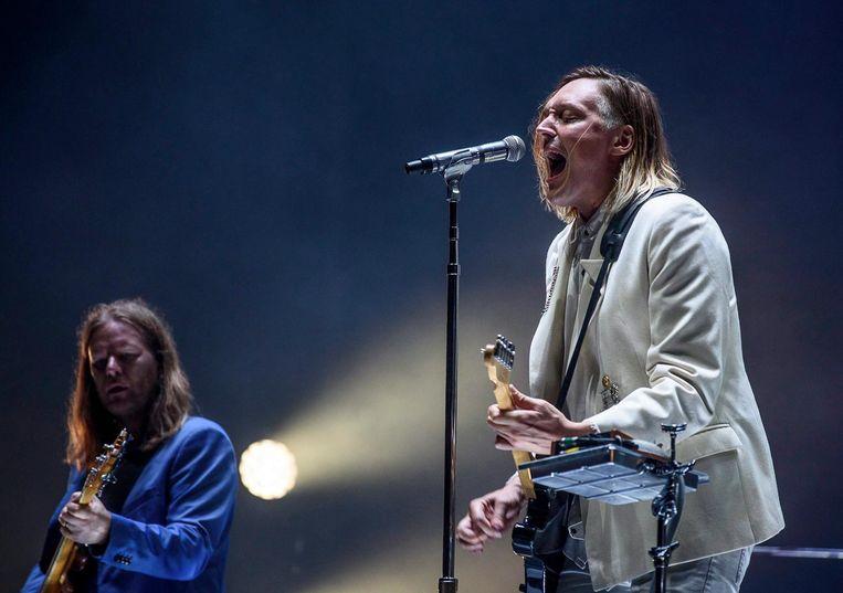 Arcade Fire tijdens een optreden in Bilbao in juli van dit jaar. Beeld anp