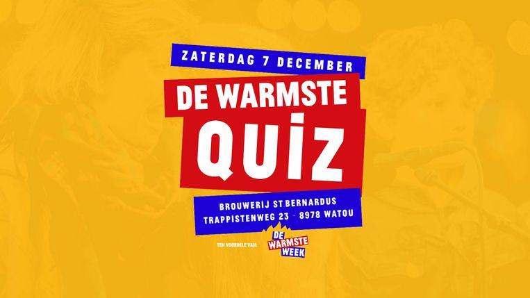 St. Bernardus organiseert 'De Warmste Quiz – Lachen is gezond'
