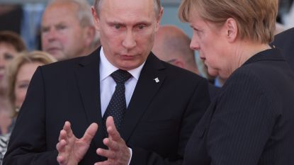 Poetin wil Europese hulp bij heropbouw Syrië, Merkel wijst op gezamenlijke verantwoordelijkheid