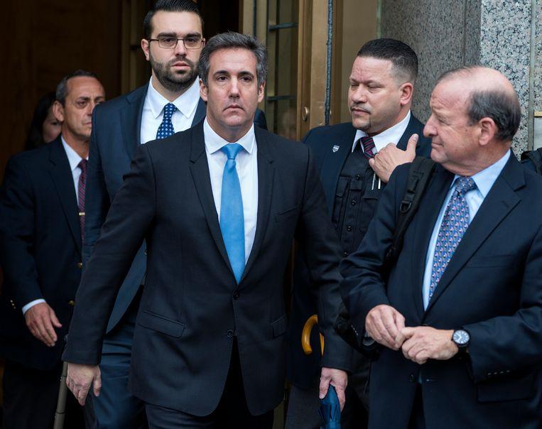 Michael Cohen, Trumps persoonlijke advocaat, bij de rechtbank in New York.