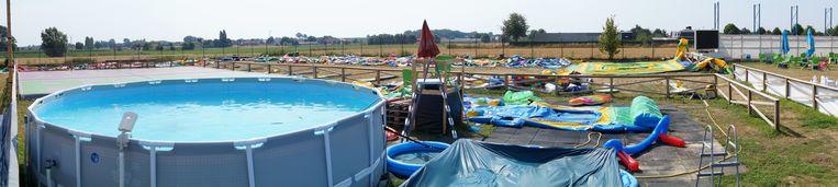 Geen spelende kinderen in het zwembad vandaag