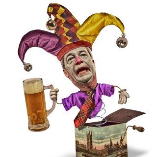 Nigel Farage is een duveltje uit een doosje voor het Europarlement