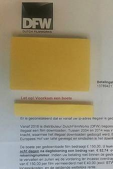 Oplichters sturen nepboetes voor illegaal downloaden films