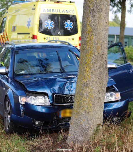 Automobiliste botst tegen boom bij Gassel