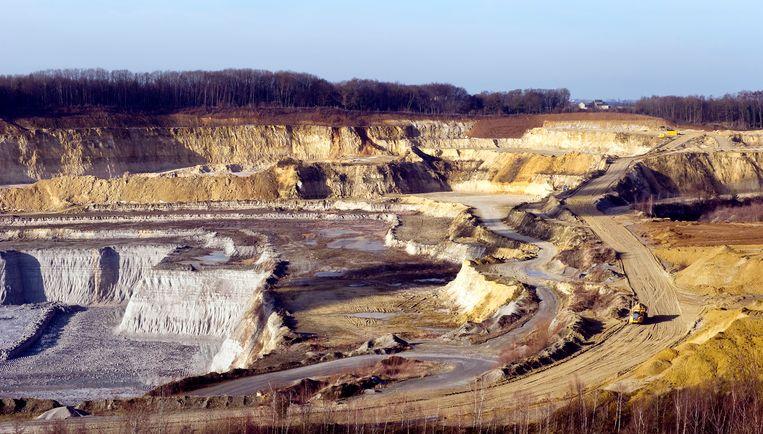 De Sint Pietersberg in Limburg verdween door mergelwinning.  Beeld anp