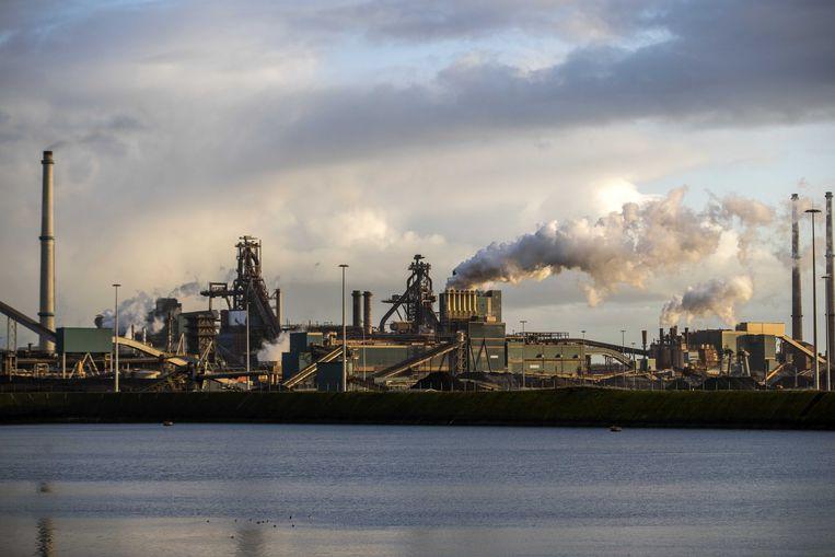 Exterieur van Tata Steel. Het staalbedrijf gaat tot 3000 banen schrappen in Europa. Beeld ANP